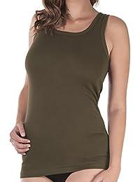 Damen Longshirt Feinripp - Achselhemd - 100% gekämmte Baumwolle - versch. Farben - auch in Übergrößen bis 54, Gr. 36-54 wählbar - Highest Standard - Einlaufvorbehandelt - CELODORO Exclusive