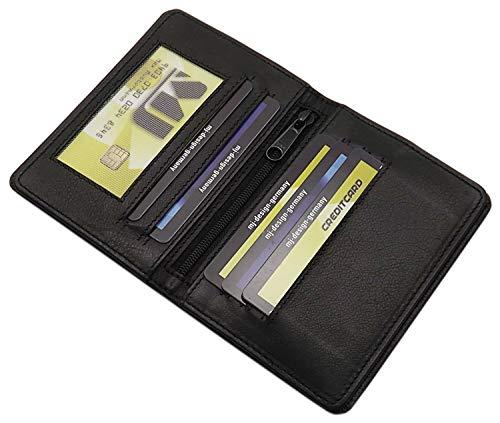Kalbsleder Ausweis- und Kreditkartenetui MJ-Design-Germany (Schwarz)