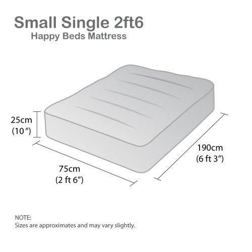 Happy Beds Neptune Semi-Orthopaedic Bonnell Spring Mattress - Small Single
