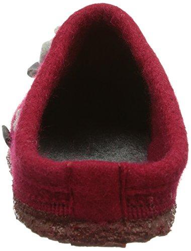 Giesswein - Pantofole Niederau, Donna rosso (Rot (kirschrot))