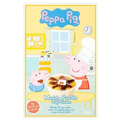 Peppa Pig Schlammigen Pfütze Cupcake -Mix (195G) (Pig Peppa Cupcakes)