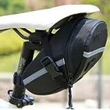 Denshine Carretera montaña bicicleta de alforjas bicicleta impermeable para sillín de bicicleta asiento bolsa negro