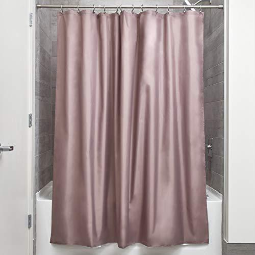 Interdesign tenda doccia in tessuto, tende per doccia in poliestere con orlo rinforzato, tenda bagno lavabile con dimensioni di 183,0 cm x 183,0 cm, talpa
