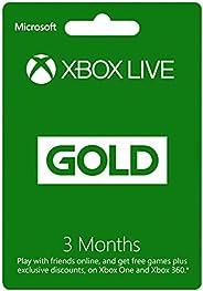 XBOX LIVE 3 Month Gold Membership Card (XBOX 360 & XBOX