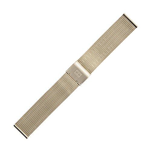 Tommy Hilfiger Uhrenarmband 18mm Edelstahl Gold - Uhrband 679001211