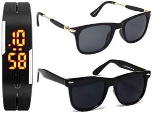 Sheomy Wayfarer Unisex Sunglasses(singlebridge|Black)