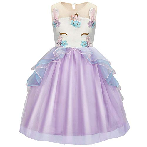 Girls Costume Cosplay Dress Party Outfit Fancy Dress Princess Tutu Skirt for Festival Performance Birthday Pageant Carnival Halloween Photo Shoot for Kids Teenagers Fit for 2-3 years