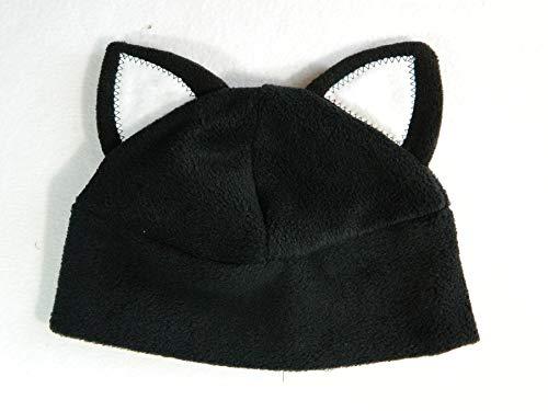 Katzenohren Mütze schwarz weiß Gothic Punk Rock
