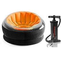 كرسي انتيكس قابل للنفخ - برتقالي , [68582] مع منفاخ هواء