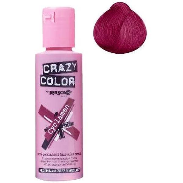 Tinte Crazy Color para el pelo, rojo Cyclamen: Amazon.es ...