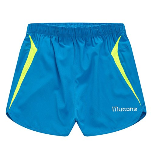 Men's Llightweight Breathable Loose Muaone Casual Shorts blue and green