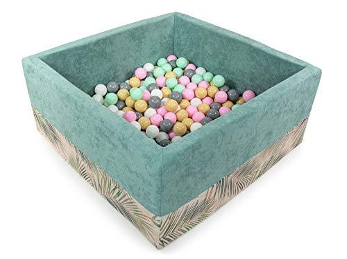 Tweepsy morbida piscina di palline per bambini 300 palle 90x90x40cm - fabbricato in eu - bkwdp3