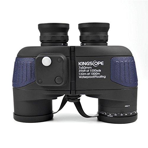 8568a629832c51 Kingscope 7 x 50 HD Jumelles marines militaire avec lumineux Compass, BAK4  Prisme de Porro
