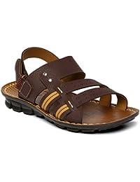 PARAGON SLICKERS Men's Brown Sandals