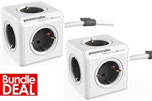 Power Cube Doppelpack Extended, 2 x PowerCube Extended Grau (Power-pack Die Für Reise)