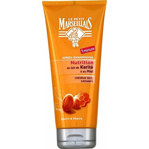 Le Petit Marseillais Après Shampooing Cheveux Secs/Abîmés/Cassants Karité Miel Tube 200 ml