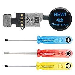MMOBIEL Universal Home Button kompatibel mit iPhone 7/8 /7 Plus /8 Plus (Schwarz) 4. Gen zur Wiederherstellung der Funktionen