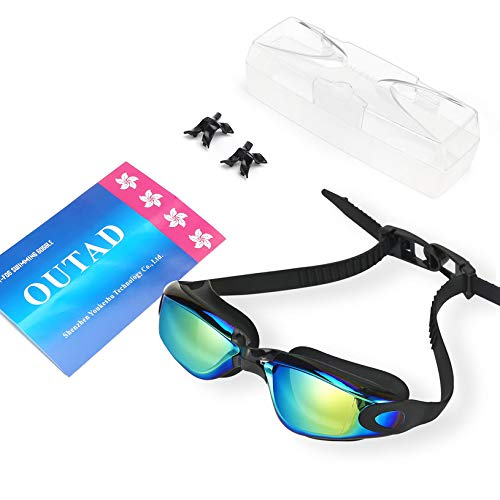 667cc3a4688f OUTAD Unisex Anti Fog UV Protection Triathlon Swim Swimming Goggles No  Leaking with Free Protection Case