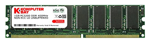 Komputerbay 1GB DDR DIMM (184 PIN) 400Mhz PC3200 DESKTOP MEMORY (Personal Computers)