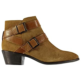 Firetrap Womens Alford Boots Heeled Ankle Slip On Zip Strap 10