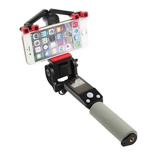 MASUMARK Bastoni Selfie Automation Selfie Stick, rotazione a 360 gradi angolo regolabile, Self-portrait-Monopiede estensibile/Wireless, con Bluetooth e supporto smartphone regolabile, per Iphone 6, 5, 5s, 6s, per Iphone 6 Plus, Android, nero