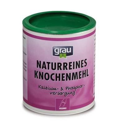 Grau naturreines Knochenmehl 900 g