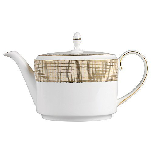 Wedgwood Gilded Weave Teapot, 1.4 L, White by Wedgwood -