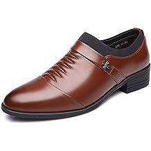 4958626e50 XI-GUA Herren Oxford Business Lederschuhe wies Leder Freizeitschuhe Urban  Work Schuhe