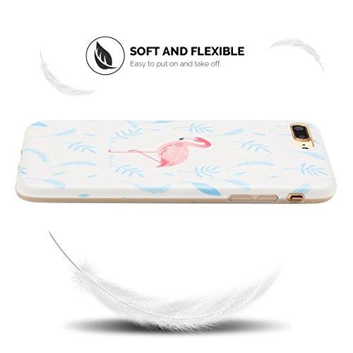 Cover iPhone 7 Plus Case iPhone 8 Plus Custodia Spiritsun Moda Soft TPU Case Christmas Kawaii Cover High Quality Scintillante Luminoso Case Elegante Souple Flessibile Liscio Copertura Perfetta Protezi Flamingo 1