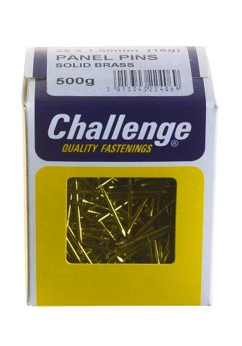 Challenge - Chiodi in ottone massiccio, 25 x 1,60 mm, confezione da 500 g