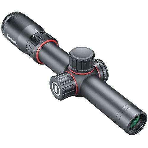 Bushnell Nitro 1-6x24 Zielfernrohr Leuchtabsehen 4A - 30 mm Mittelrohr - Voll vergütet bis 92{dbae76e0df2b4ff800b7b6cf18f57391eed11e52b04a7df432791e0a12bdc2c4} Transmission