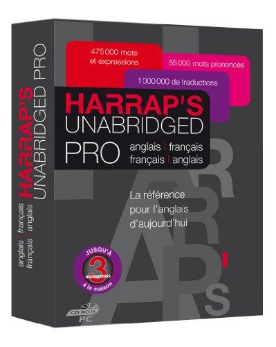 Harrap's Unabridged Pro Français/anglais/français