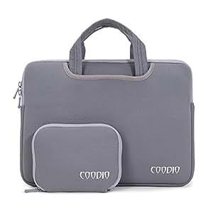 Coodio® Universal 13.3 Zoll Laptophülle Aktentasche Handtasche + Zubehör Tasche für Apple Macbook Air, Macbook Pro Retina (Fit all 13.3 inch ultrabook laptop notebook) - Farbe Grau