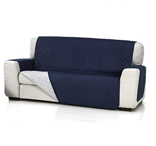 textil-home Salvadivano Trapuntato Copridivano Malu 3 posti Reversibile. Colore Blu