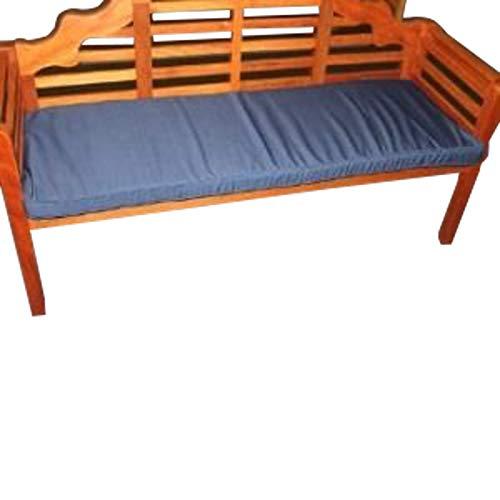 UK-Gardens-Azul Marino Muebles de jardín 3plazas Banco de jardín cojín