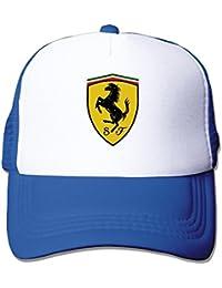 MaNeg Ferrari Team Funny Trucker Gorro con Malla Talla única (en 5 Colores)  Tapas 0b9e9024df7
