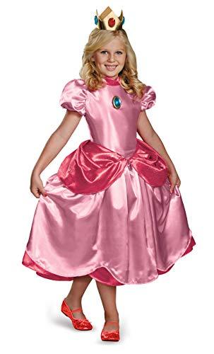 Peach Prinzessin Kostüm Mario - Prinzessin Peach Kostüm für Mädchen Prestige