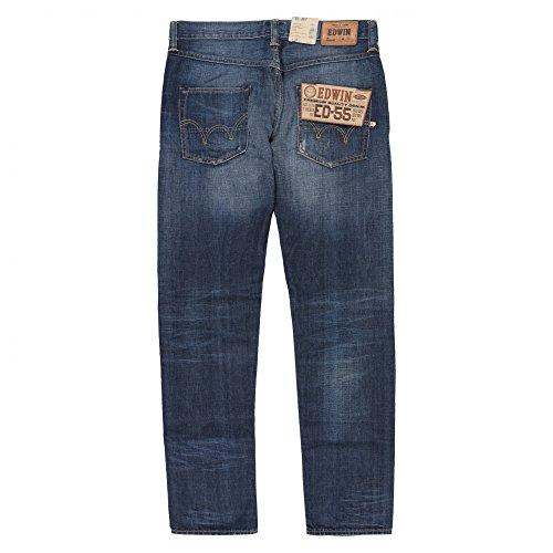 Edwin Denim ED-55 Relaxed Quartz Cotton Jeans Heavy O Wash Blue Denim