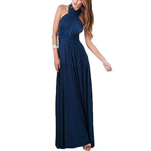 Damen Kleider Sexy High Splitted Roben - Hibote Frauen Maxi Kleider Bequem Asymmetrische Langes Kleid Elegant Party Cocktail Ball Kleid (Damen-lang-spa-robe)