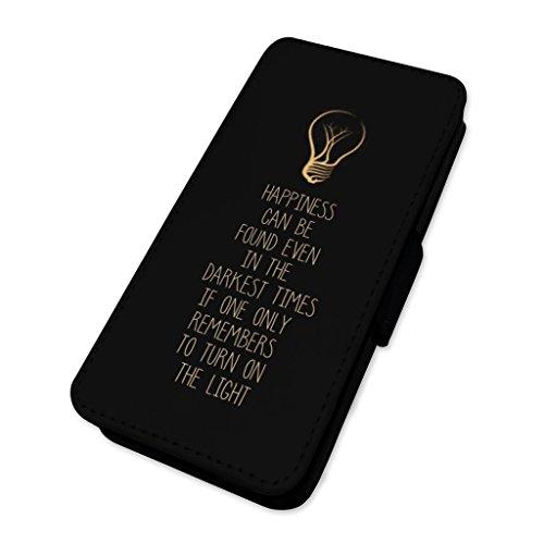 Happiness lampadina sulla citazione–Flip cover Flip Case di supporto Apple Iphone 5/5s/SE