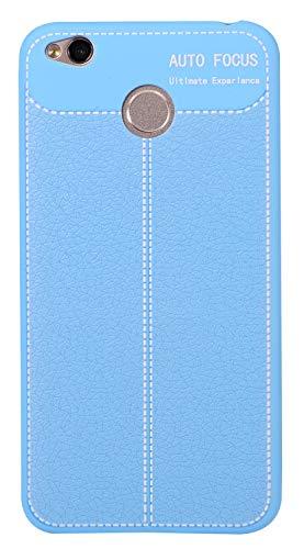 BINGRAN Redmi 4X Hülle, Dünne Soft Weiche Robuste TPU Silikon mit Litschi Muster Design Handyhülle Case Schützende Hülle für Xiaomi Hongmi 4X 5.0 Blau