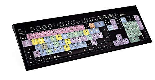 LogicKeyboard LKB-FCPX10-AMBH-FR Tastatur, Apple Final Cut Pro X Astra BL Schwarz/Bunt (Final Tastatur Cut)