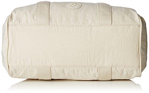 Kipling Practi-Cool Damen Schultertaschen, 38.5x21x17 cm (B x H x T), Elfenbein (Rainy Day)