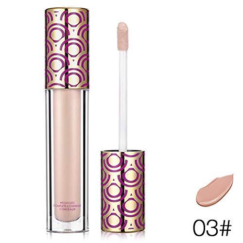 Concealer,Feuchtigkeitsspendender, Concealer,Makeup Gesichtskontur,Liquid Blemish,Fehler Abdeckung, für alle Hauttypen (3) -