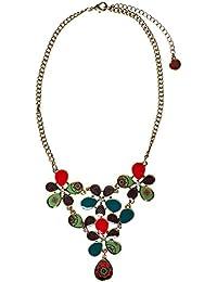 Desigual - Collar mujer de flores multicolor