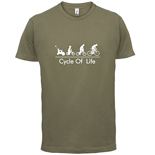Cycle of Life - Herren T-Shirt - 13 Farben Khaki
