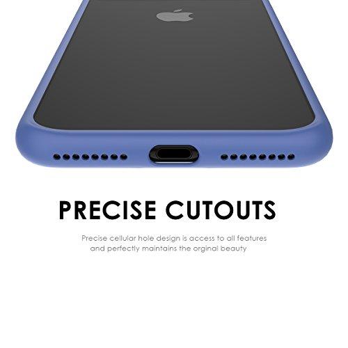 iPhone 7 Plus Housse Coque, Moonmini Ultra-mince Eagle-eye Anti-rayures Antidérapante TPU Pare-chocs Transparent Panneau arrière rigide Case Cellphone Shell pour iPhone 7 Plus (Noir) Bleu