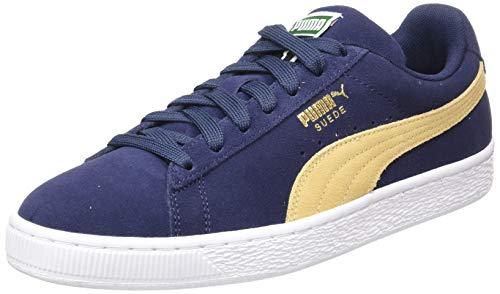 Taupe Classic Schuhe (Puma Unisex-Erwachsene Suede Classic Sneaker, Blau (Peacoat-Taos Taupe), 44 EU)