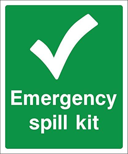 200mmx166mm Notfall Spill-Kit Schild Sticker Selbstklebend (Label)