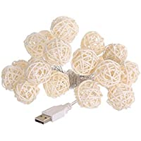 Mmlc 20USB di ricarica LED finestra tenda morbida luci string Ball House party Decor lampada Classico Multicolor